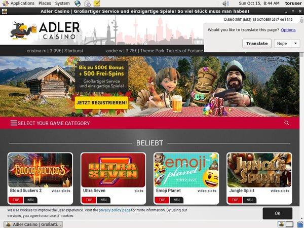 Adler Casino Euroslots