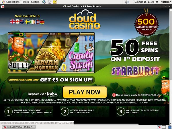 Cloud Casino Free Bets
