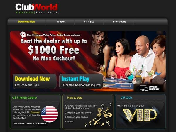 Club World Casinos Bonus Codes