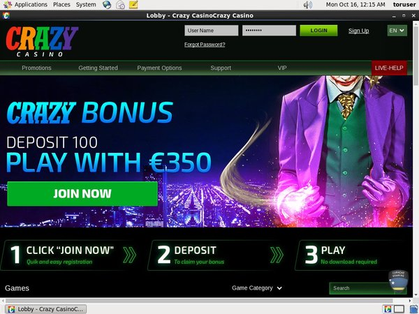 Crazy Casino Games Bonus