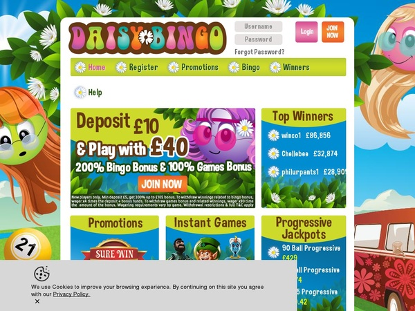 Daisy Bingo Join Deal