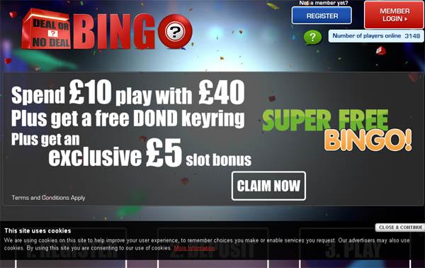 Deal Or No Deal Bingo No Deposit Bonus 2017