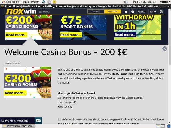 Get Noxwin Free Bet