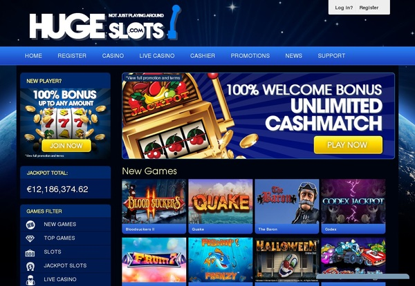 Join Huge Slots Promotion
