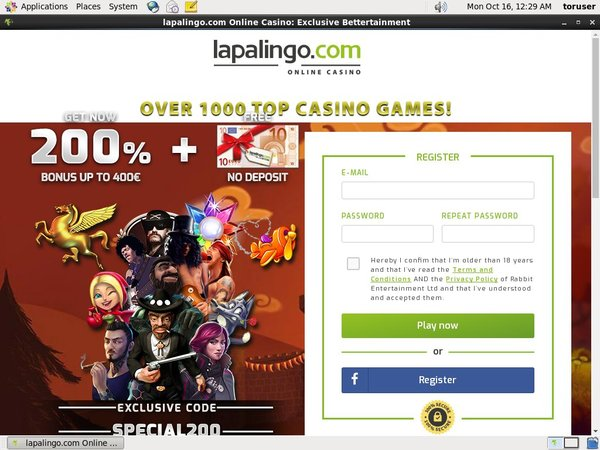 Lapalingo New Customer Offer
