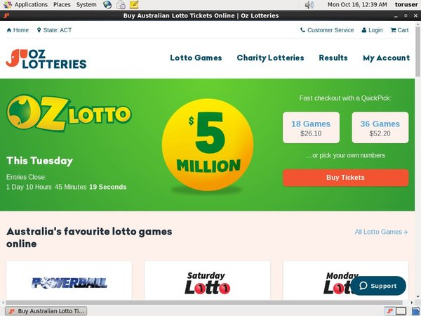Oz Lotteries Transfer