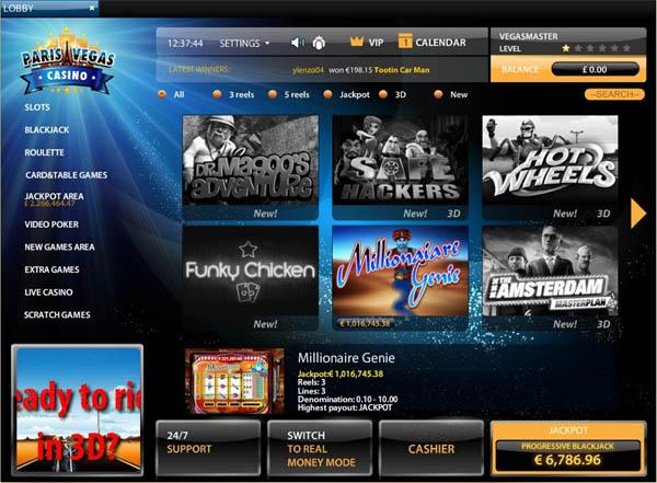 Paris Vegas Casino Joining Offer