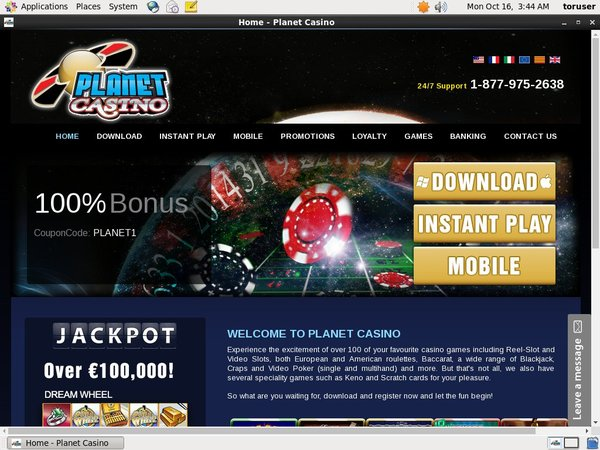 Planetcasino Top Bets