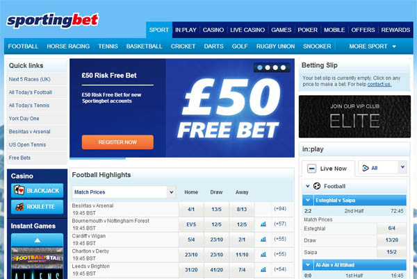 Sporting Bet Online Casino Guide