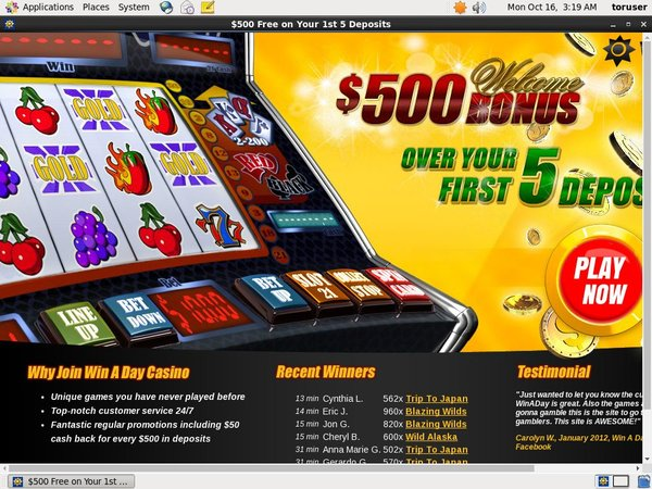 Win A Day Casino Winners