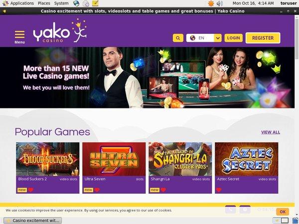Yako Casino Account Bonus