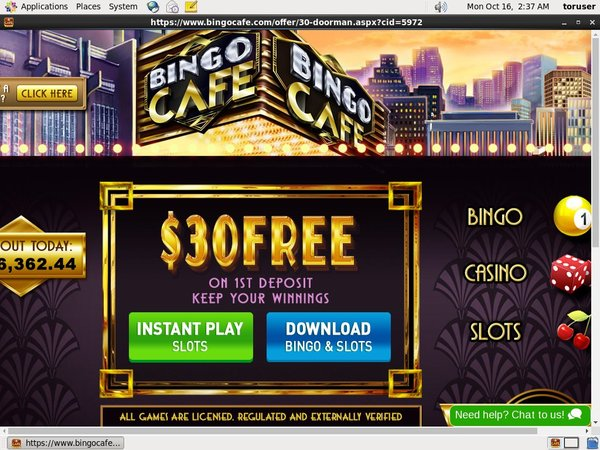 Bingo Cafe Web Money