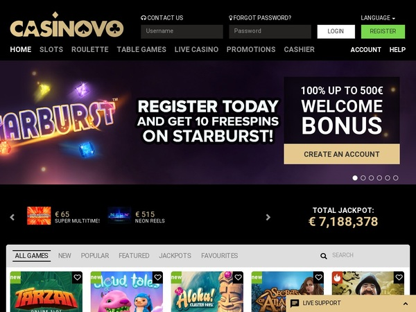 Casinovo Promotions Offer
