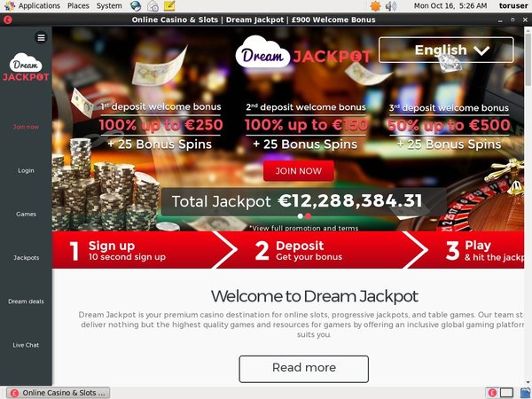 Dream Jackpot Offer Code