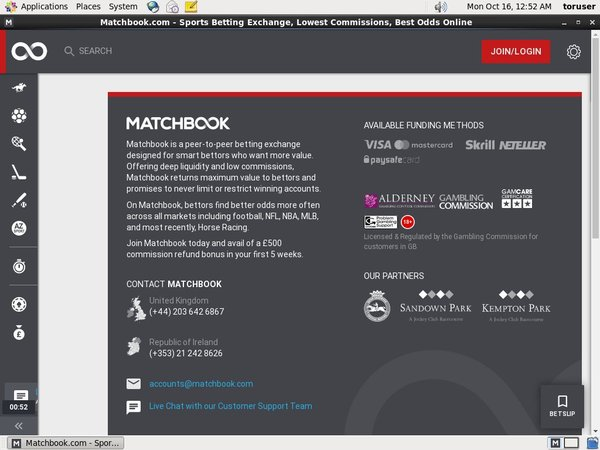 Matchbook No Deposit Codes