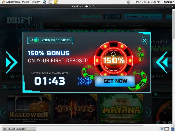 Driftcasino Bonus Money