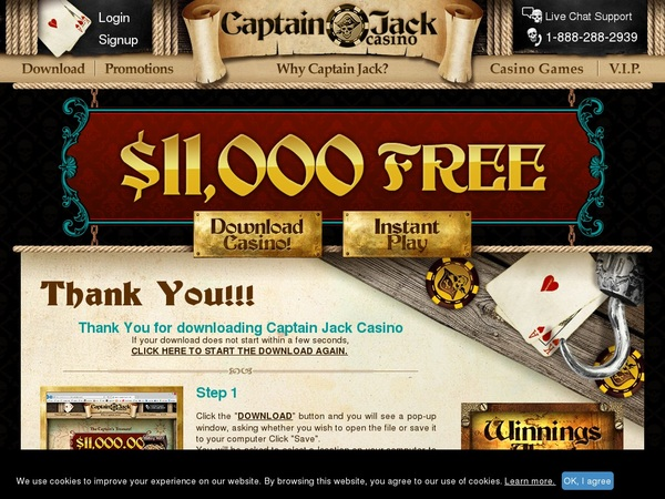 Captainjackcasino 50 Free Spins