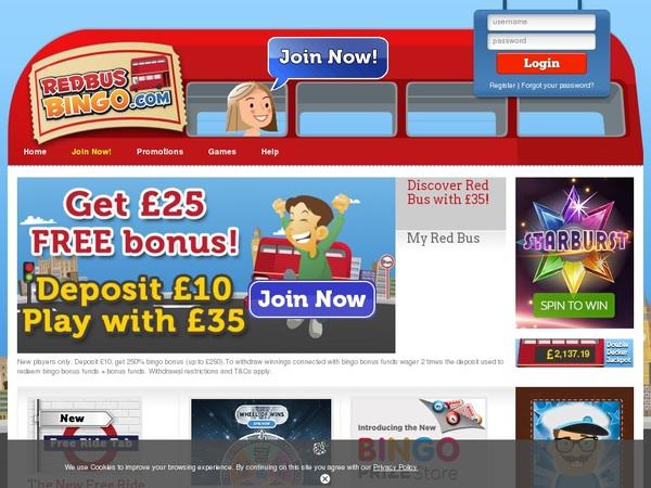 Red Bus Bingo Online Roulette