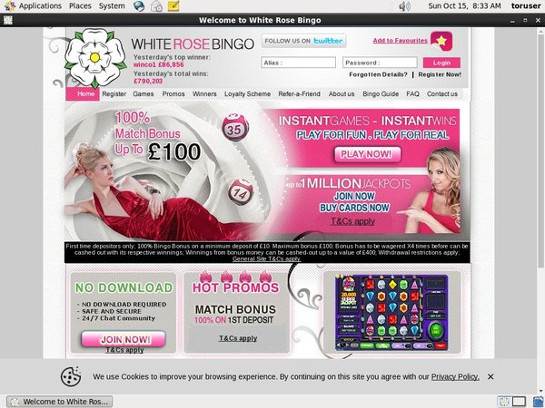 White Rose Bingo Casino Mobile