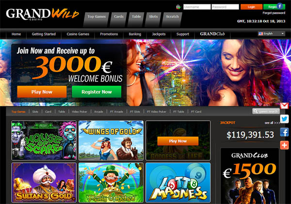 Coupon Grand Wild Casino