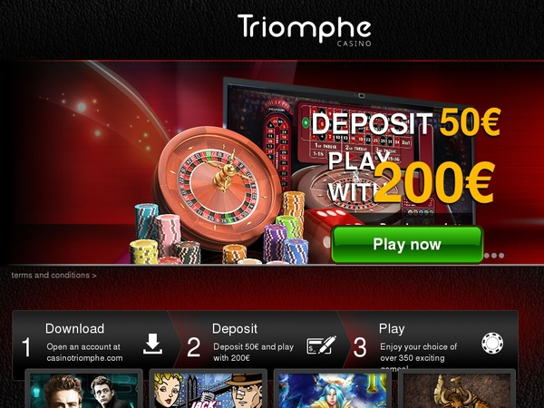 Triomphe Casino High Roller Bonus
