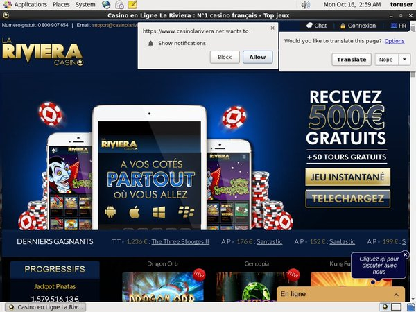 Riviera Casino Live Games
