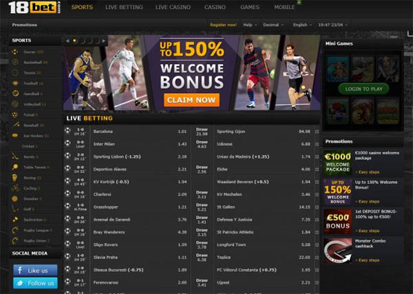 18bet Sports Betting