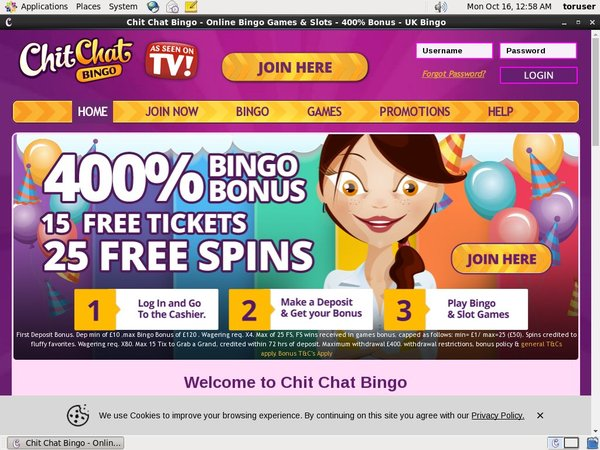 Chit Chat Bingo Instadebit
