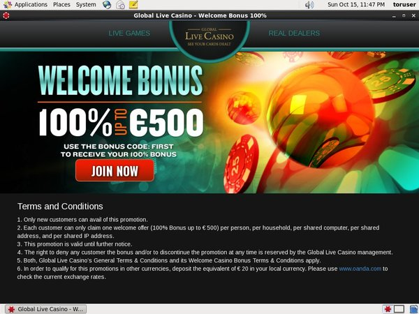 Global Live Casino Unibet