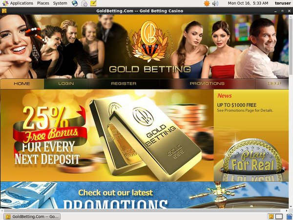Gold Betting Welcome Bonuses
