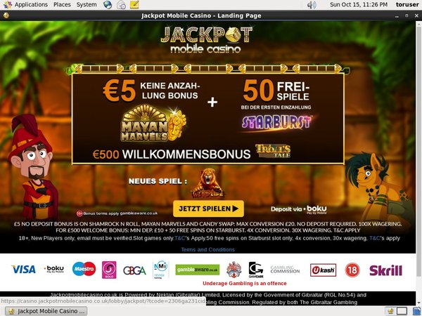 Jackpot Mobile Casino Discount Offer
