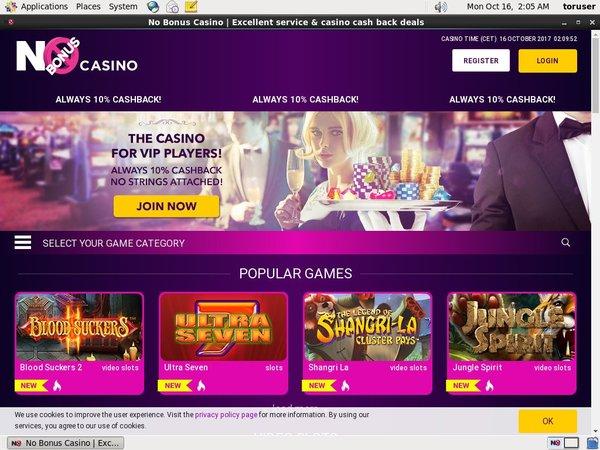 No Bonus Casino Hent Bonus