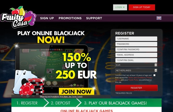 Fruity Casa Blackjack Live Casino Uk