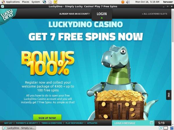 Luckydino Mobile Deposit