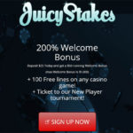 Juicy Stakes Sign Up Promo