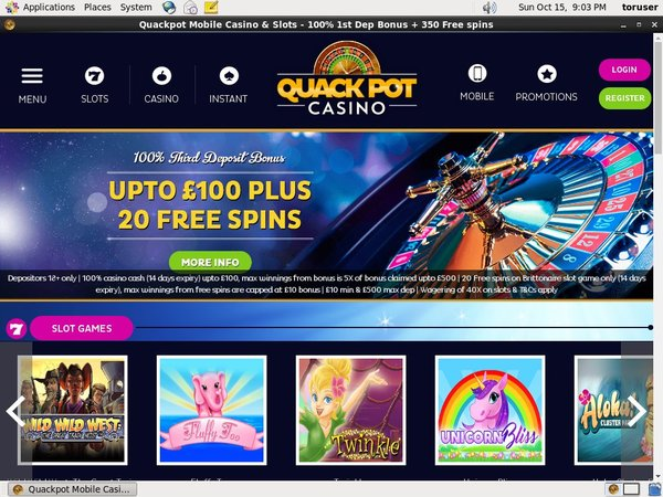 Quackpotcasino Pounds No Deposit