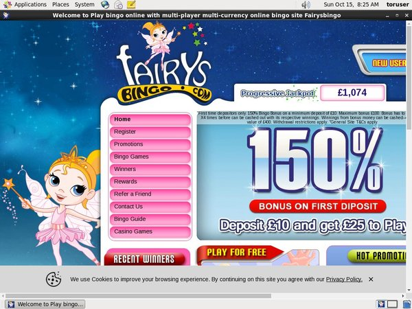 Fairys Bingo Start Account