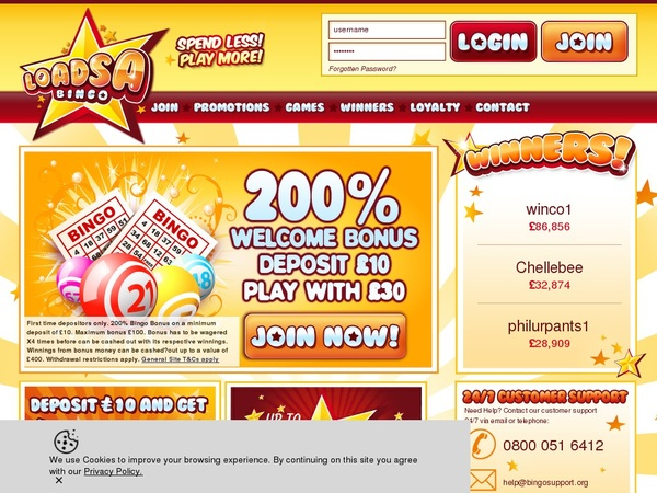Loadsa Bingo Limited Offer