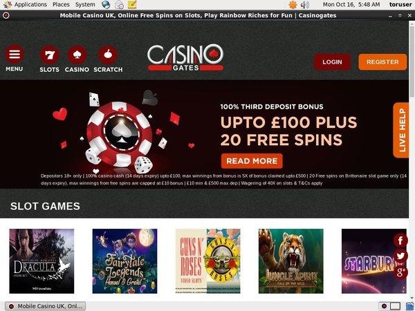 Casino Gates Bonuskode