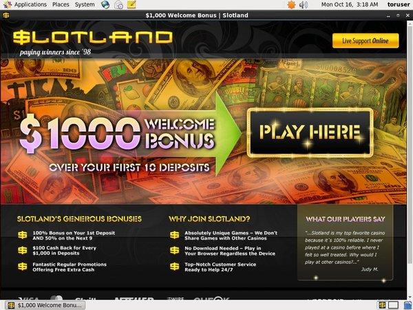 Slotland Free Sign Up