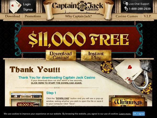 Captainjackcasino Aloha Free Spins