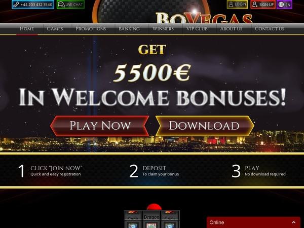 Bovegas Casino På Nett