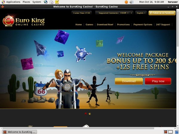 Euro King Casino Start Account