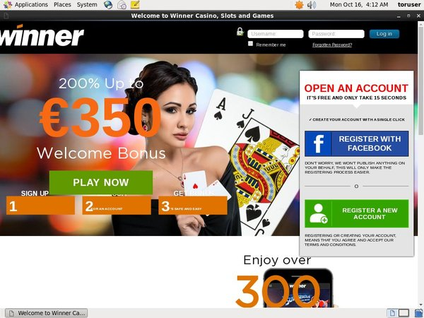 Winner Live Casino Bet Bonus
