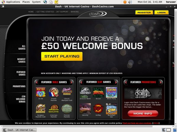 Dashcasino Bonus Offer