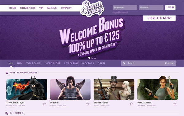 Sugar Casino Bonus Code 2017