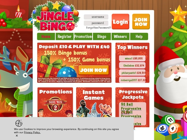 Jinglebingo Register Bonus